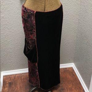 Design Todays | Burn Out Velvet Maxi Skirt | S